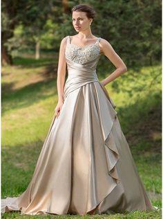 Forme Marquise Bustier en coeur Traîne moyenne Satiné Robe de mariée avec Plissé Emperler Motifs appliqués Dentelle Robe à volants