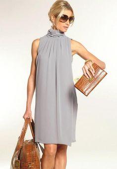 Платье классическое воротник стойка