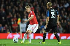 Bastian Schweinsteiger attempted more passes in 45 minutes than any Bruges player did in 90 minutes