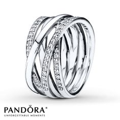 From Pandora, this sterling silver Entwined ring features entwined strands of shiny sterling silver and twinkling stone details. This ring forms a modern statement ring that will upgrade any outfit. Rings Pandora, Pandora Bracelets, Pandora Jewelry, Jewelry Rings, Silver Jewelry, Jewelry Accessories, Gold Jewellery, Jewelry Shop