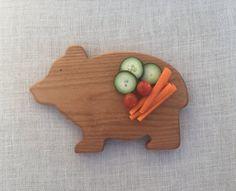 Bear Breakfast Board Wooden Serving Plate Waldorf Snack