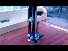 Jigsaw table - blade guide 線鋸機倒裝台鋸片夾持鋸切測試 - YouTube