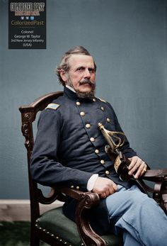 Union Colonel (later General) George William Taylor of the New Jersey Volunteer Infantry - light blue pants Military Men, Military History, American Civil War, American History, The Ordinary Man, Stonewall Jackson, Air Fighter, Union Army, Female Soldier