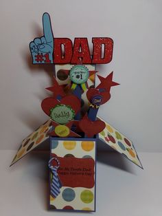 Dad - card in a box - Audrey Long free tutorial
