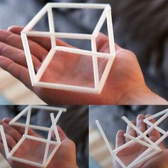 Anamorphic Optical Illusion - Cube by - Thingiverse Cool Optical Illusions, Art Optical, Cubes, Perspective Game, Illusion 3d, 3doodler, Cube Design, 3d Design, 3d Printer Projects