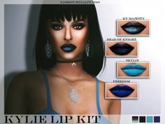Kylie Lip Kit at Fashion Royalty Sims via Sims 4 Updates Check more at http://sims4updates.net/make-up/kylie-lip-kit-at-fashion-royalty-sims/