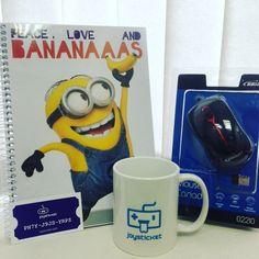 Enviados: Caneca Caderno #minions e Mouse!!  é grátis! Participe djá! #joysticket #premios