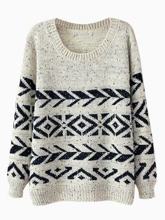 I love the pattern on this sweater! I also love that it allows me to add whatever color I want with a scarf since it is pretty neutral