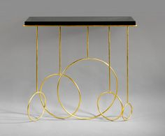 Twenty First Gallery Hubert Le Gall Sonate Console Shelf Furniture, Luxury Furniture, Furniture Design, Gold Furniture, Console Table Living Room, Modern Console Tables, Furniture Inspiration, Interior Design Inspiration, Baby Cradle Wooden