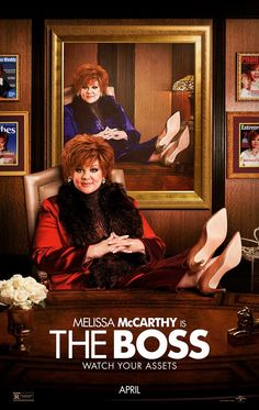 The Boss on DVD July 2016 starring Melissa McCarthy, Peter Dinklage, Kristen Bell, Kristen Schaal. Melissa McCarthy headlines The Boss as a titan of industry who is sent to prison after she's caught for insider trading. Funny Movies, Comedy Movies, Hd Movies, Movies To Watch, Movies Online, Netflix Online, 2016 Movies, Film Watch, Film Vf
