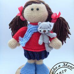 Patrón Amigurumi Rosalba en crochet ༺✿Teresa Restegui http://www.pinterest.com/teretegui/✿༻