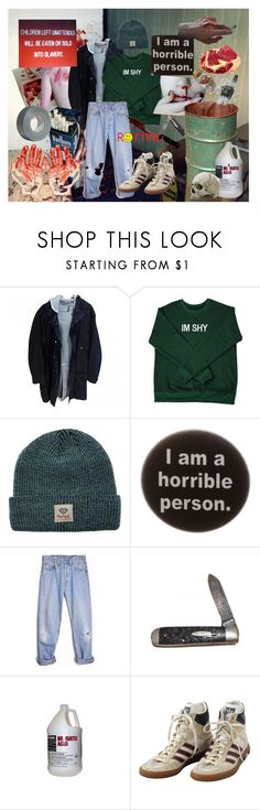 """they;re hungry;"" by err0r ❤ liked on Polyvore featuring Dior Homme, Diamond Supply Co., Humör, Levi's, PAM, adidas and Barker"