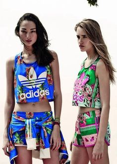 tank top adidas shorts gym shorts summer colorful shirt blue shirt set crop multicolor floral pants flowers adidas originals crop tops athletic adidas sweats flowered shorts blue green blonde hair black fit fitness gym gym clothes dope vintage pattern matching set
