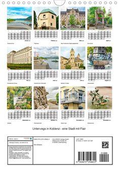 """Kalender: """"Unterwegs in Koblenz - eine Stadt mit Flair"""" Eine spannende Fotoreise mit bekannten Sehenswürdigkeiten von Koblenz. (Planer, 14 Seiten ) Planer, Germany, Pictures, Old Town, Calendar, Deutsch"""