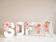 Carta floral cluster monograma / decoración infantil /