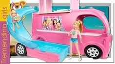 Barbie Nueva Caravana Superdivertida 2015 - Barbie Pop Up Camper - jugue...