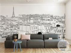 Parisian chic <3   Wall mural by PIXERS