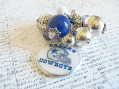 Dallas Cowboys Fan Changeable Cluster Charm or by The Jewelry Jar, 11.00