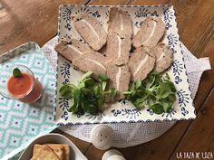 Rollo de carne picada con verduras en tomate Patatas Chips, Carne Picada, Meat, Chicken, Food, Chip Bags, Vegetables, Essen, Meals