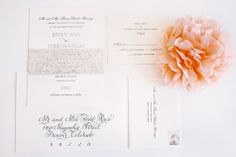 Elegant French Inspired Invitations | Happy Confetti Photography | TheKnot.com