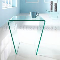 Buy Angled Glass Side Table from GlassTablesOnline.co.uk