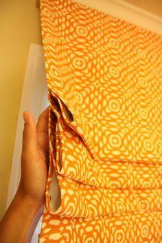 DIY Window treatment -- can be used to help make window appear larger by fastening near the ceiling