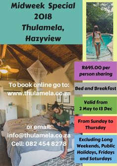 Book your romantic stay with us online www.thulamela.co.za Or contact Penny on 082 454 8278,  Email: info@thulamela.co.za #sweetromance #thulamela #loveisintheair #loveindabush
