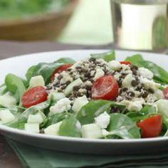 Couscous, Lentil & Arugula Salad with Garlic-Dijon Vinaigrette Recipe