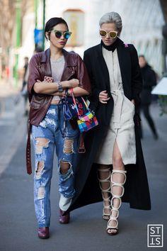 Street Style during Milan Fashion Week A/W 15/16