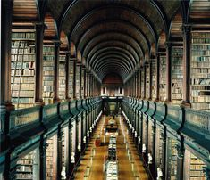 "The 25 Most Beautiful College Libraries in the World / The Trinity College Library, aka ""The Long Room,"" Dublin, Ireland"
