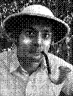 How to create a filet crochet pattern from a photo using Photoshop