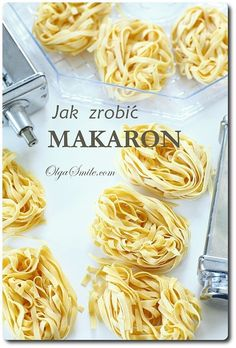 How to make pasta Polish Recipes, Gnocchi, Pasta Recipes, Macaroni And Cheese, Noodles, Salads, Spaghetti, Food And Drink, Ethnic Recipes