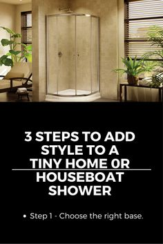 Tiny home and houseboats can have style also! Learn how to dress up a shower in a tiny space http://blog.innovatebuildingsolutions.com/2015/11/21/3-steps-add-style-tiny-home-houseboat-shower/
