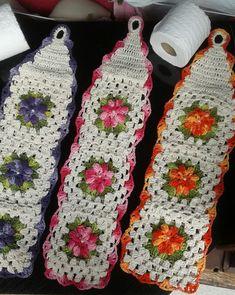 - Her Crochet Crochet Leaf Patterns, Granny Square Crochet Pattern, Crochet Squares, Crochet Motif, Crochet Doilies, Crochet Flowers, Crochet Diy, Cotton Crochet, Crochet Crafts
