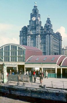 The old (floating) landing stage at the Pier Head as I remember it when we'd take a trip on the ferry