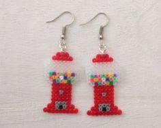 Gumball Machine Perler Bead Earrings