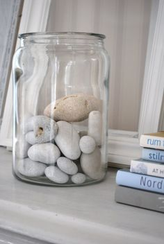 Save your sea-side collections in glass jars to use as decor around your home