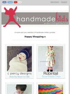 Check out this Mad Mimi newsletter - Let's go Winter Shopping   #handmadekids #handmadeshoppingguide