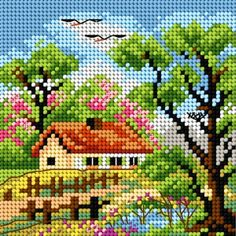 Designing Your Own Cross Stitch Embroidery Patterns - Embroidery Patterns Cross Stitch House, Cross Stitch Kits, Cross Stitch Designs, Cross Stitch Charts, Cross Stitch Patterns, Loom Patterns, Cross Stitching, Cross Stitch Embroidery, Embroidery Patterns