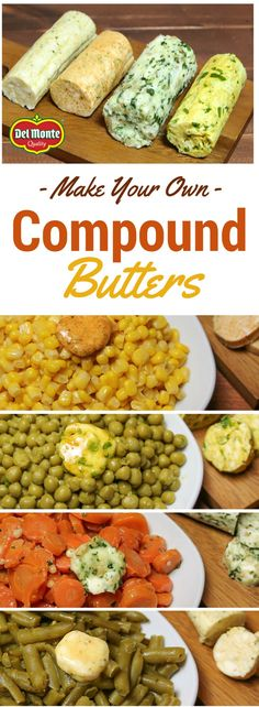 Better Buttered Veggies with easy Compound Butters! Make your veggie sides more exciting with flavorful butters you can prep ahead of time so they are always ready to melt amazing flavor into your meal. Choose from Pesto, Lemon Honey Mustard, Garlic Lime Chili, and Mild Curry. Frozen, the butters also make a tasty gift.