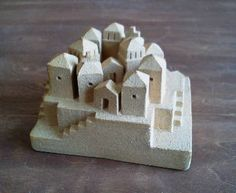 Clay Houses, Ceramic Houses, Miniature Houses, Paper Mache Clay, Clay Art, 6 3, Clay Fairy House, Pottery Houses, Architectural Sculpture