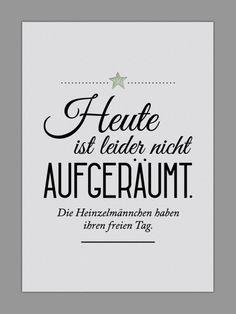 """Originaldruck - """"HEINZELMÄNNCHEN / AUFGERÄUMT"""" Kunstdruck - ein Designerstück von Smart-Art-Kunstdrucke bei DaWanda"""