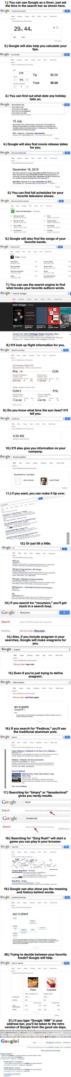 21 Google Hacks Will Blow Your Mind: http://scout.cheatsheet.me/21-google-hacks-will-blow-mind-14-made-day/