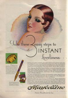 The Flapper Girl: Maybelline, 1930 via mudwerks:
