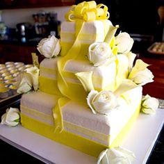 WeddingChannel Galleries: Stacked Gift Box Wedding Cake