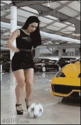 drinkmorewoder: 4gifs: She doesn't skip leg day. [video] Keep in mind she is doing this in heels effortlessly