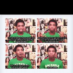 I love you, Kingsley.  This video made me subscribe to him. <3