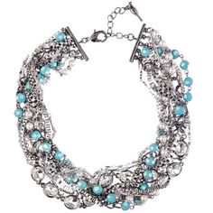 Chloe + Isabel Turquoise + Chain Torsade Necklace $148.00