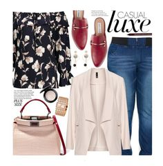 """Casual Friday (Plus Size)"" by beebeely-look ❤ liked on Polyvore featuring Manon Baptiste, Fendi, Steve Madden, MAC Cosmetics, Charlotte Russe, casual, casualfriday, plussize, plussizefashion and twinkledeals"