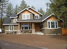 Craftsman-style house.